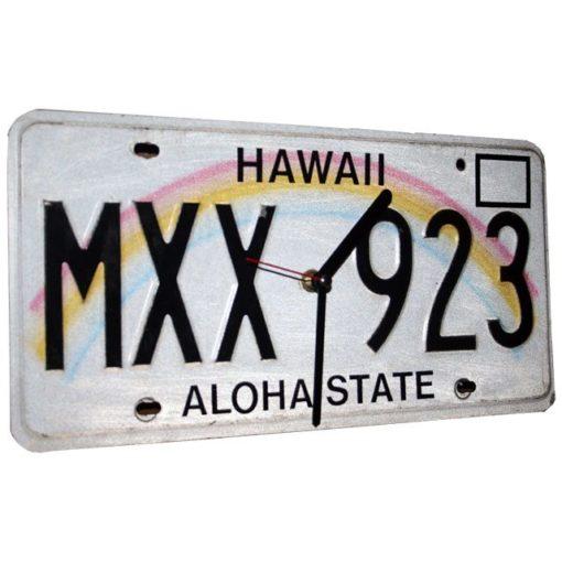 Hawaii US Kennzeichen Wanduhr