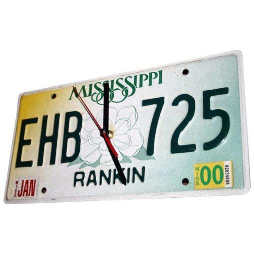 Mississippi US Kennzeichen Wanduhr